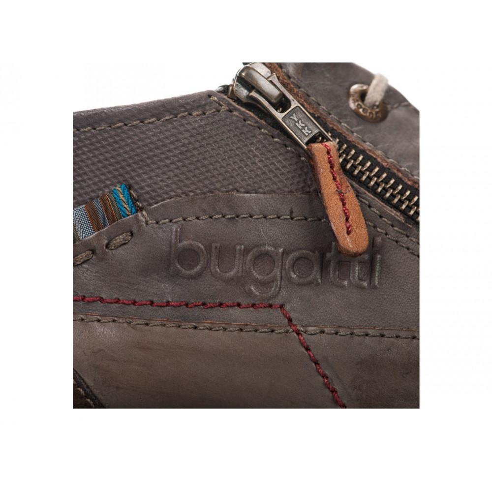 Туфли Bugatti U1308-PR4W темно коричневые