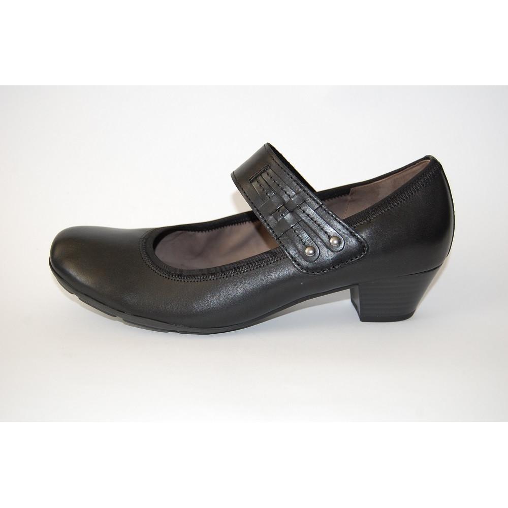 Туфли Gabor 95.412.27 черные с ремешком-шлейкой