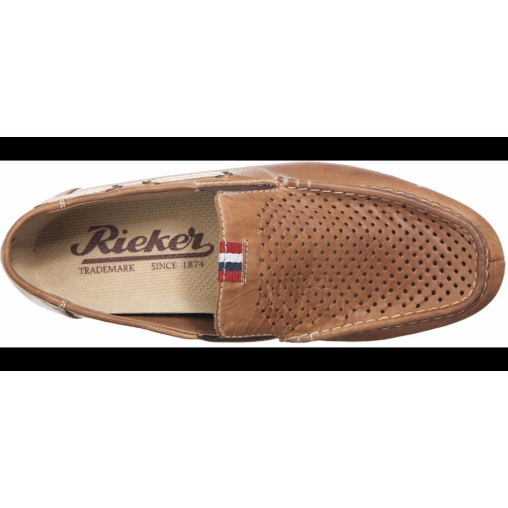 Мокасины Rieker 09765-25 коричневые