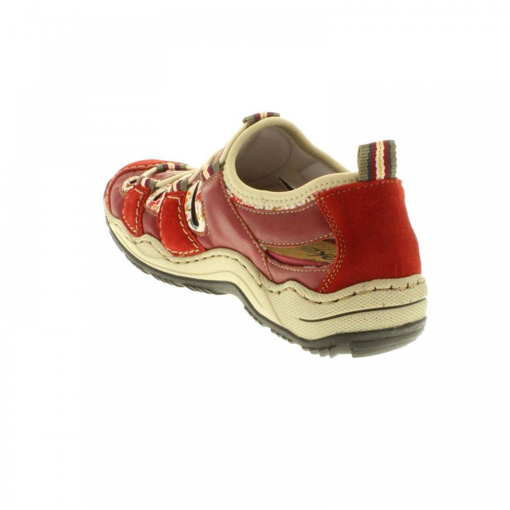 Кроссовки Rieker L0556-33 красные