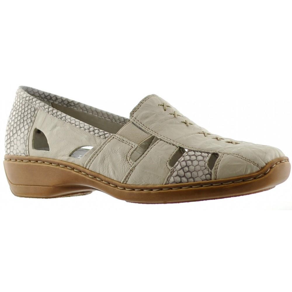 Туфли женские Rieker 41385-62 бежевые