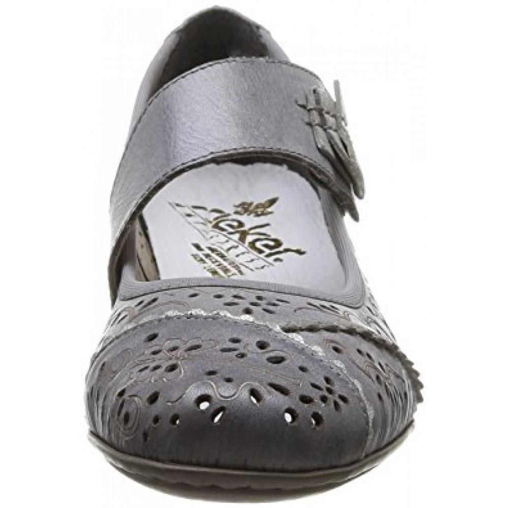 Туфли Rieker 41726-40 серые с перфорацией