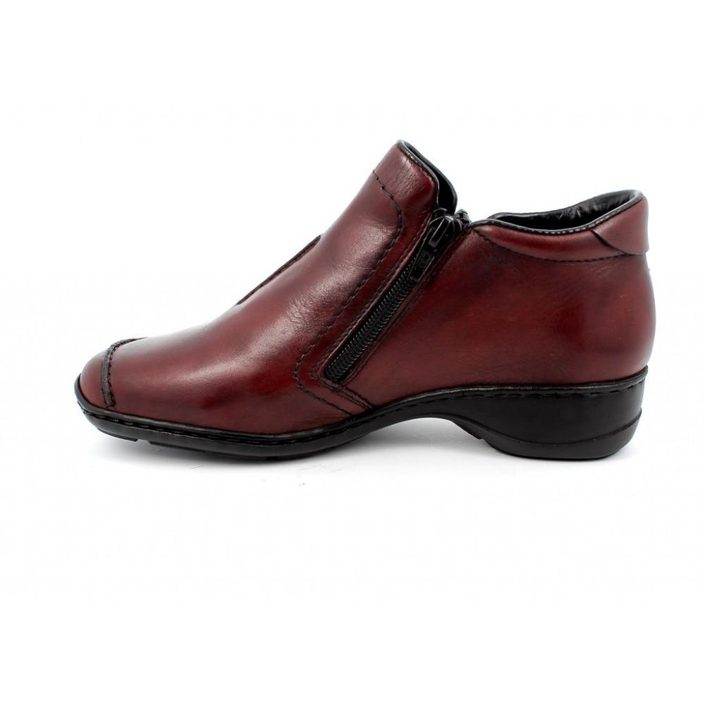 Ботинки женские Rieker 58386-35 бордовые