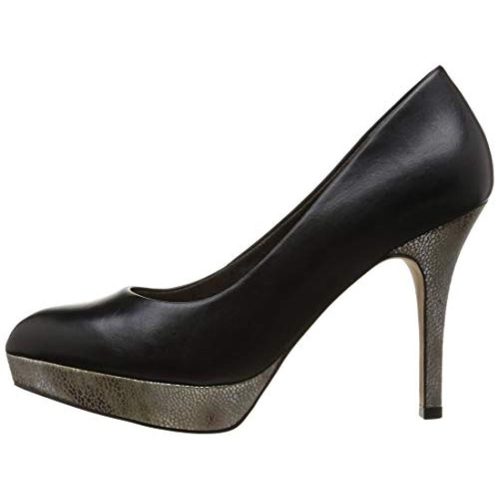 Туфли Tamaris 1-1-22424 черные на высоком каблуке