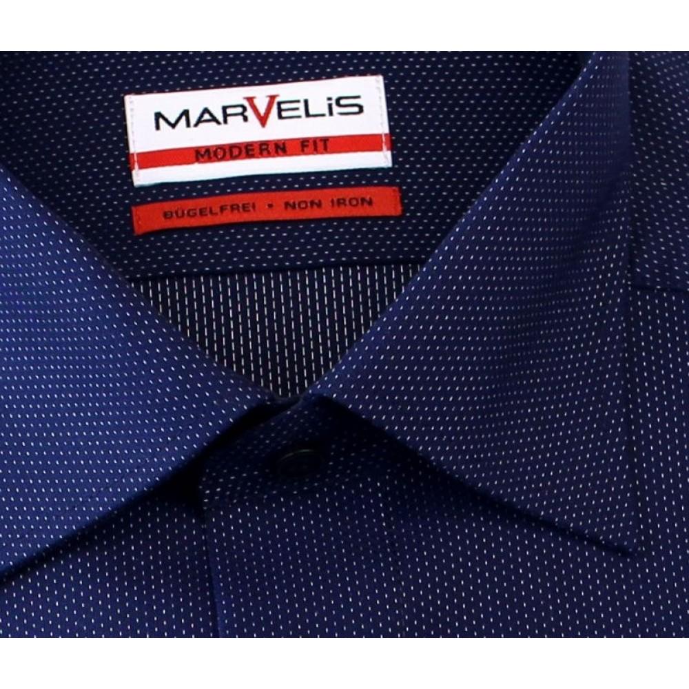Рубашка мужская Marvelis Modern Fit 2724-64-18 темно синяя