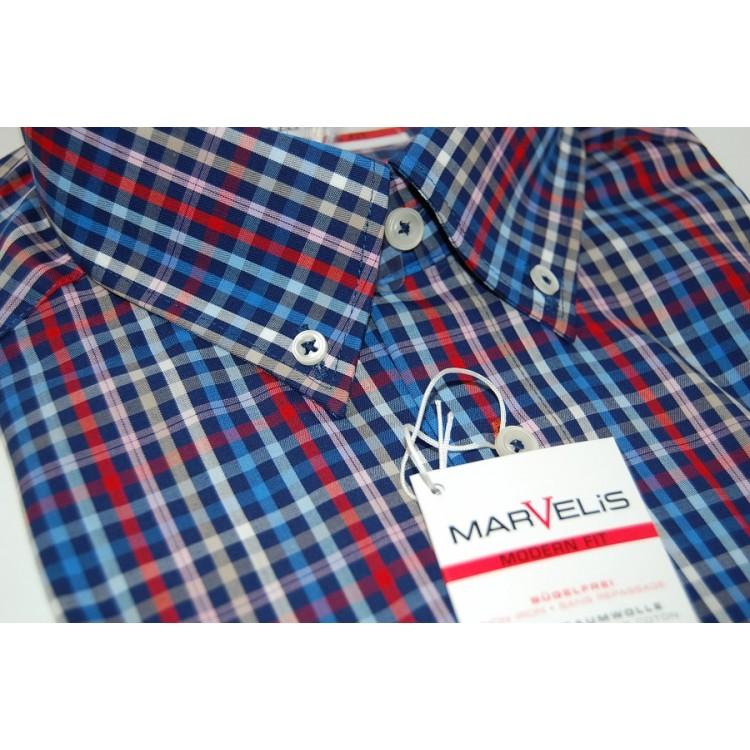 Рубашка Marvelis Mofern Fit 3721-12-30 синяя