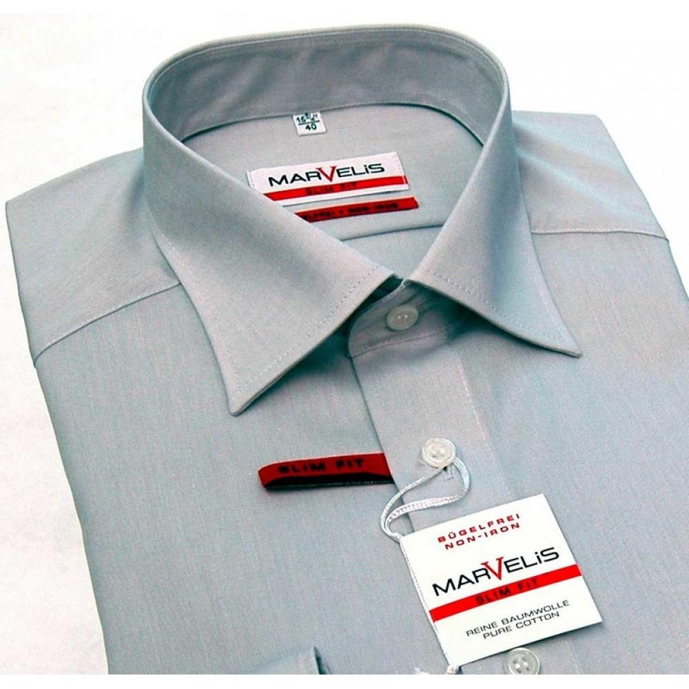 Рубашка мужская Marvelis Modern Fit 4704-64-62 светло серая