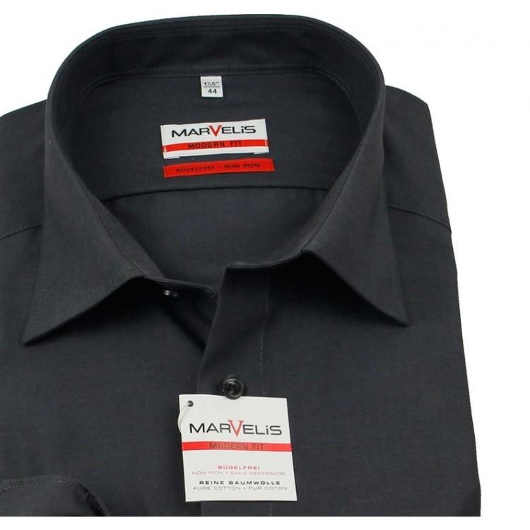 Рубашка Marvelis Modern Fit 4704-64-68 темно серая