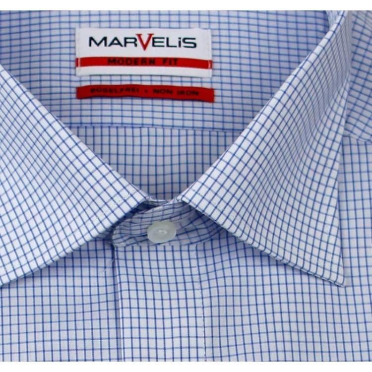 Рубашка Marvelis Mofern Fit 7752-64-15 голубая