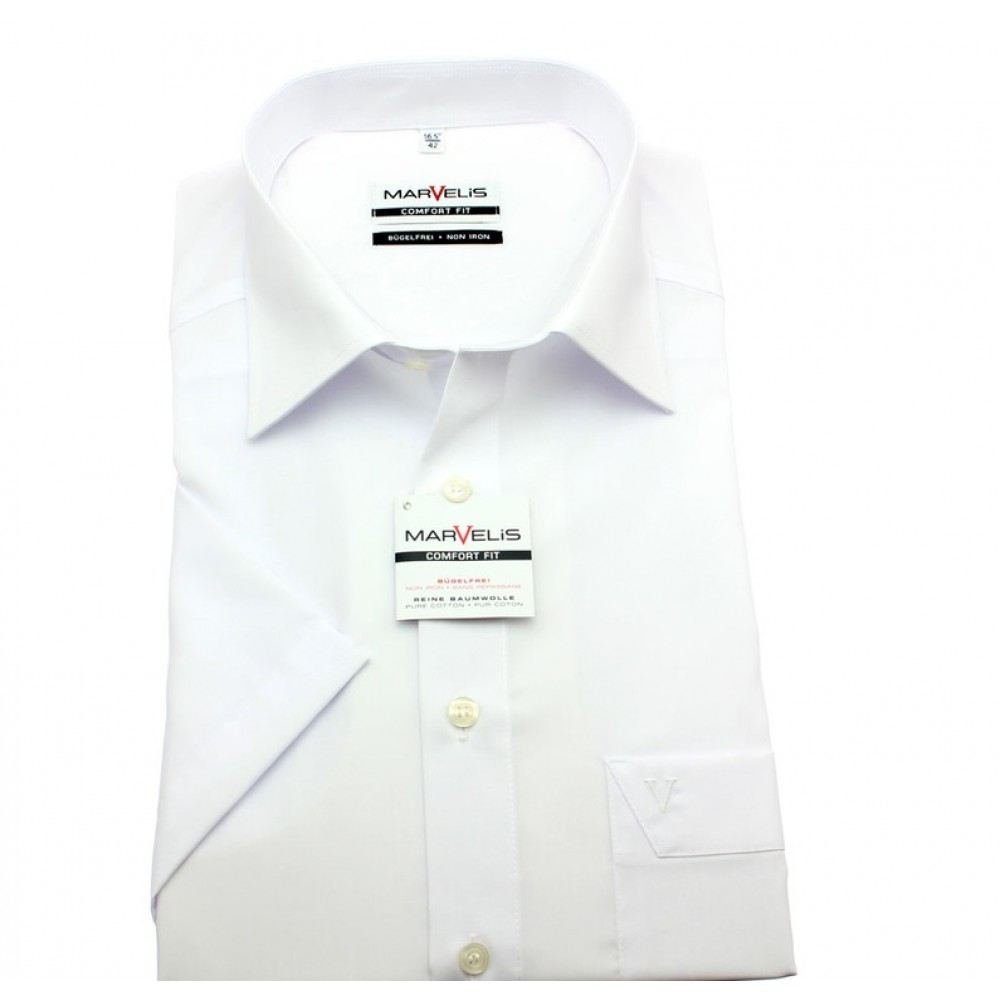 Рубашка мужская Marvelis Comfort Fit 7973-12-00 белая