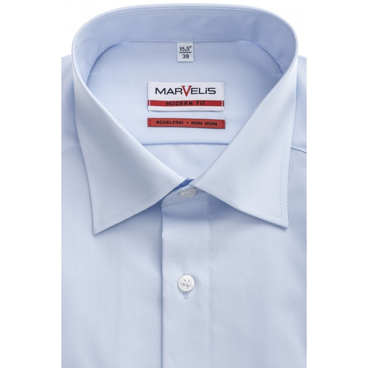 Рубашка Marvelis Mofern Fit 4700-64-11 голубая