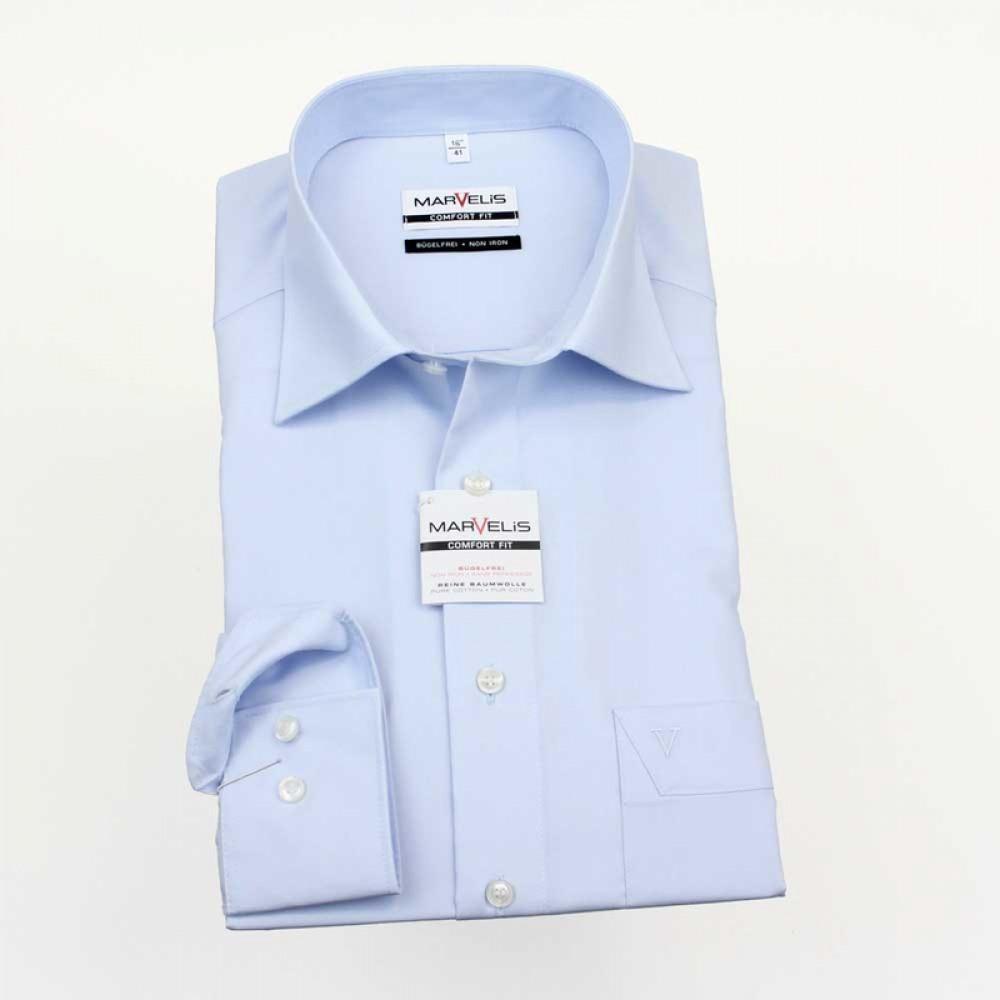 Рубашка мужская Marvelis Comfort Fit 7973-64-11 голубая