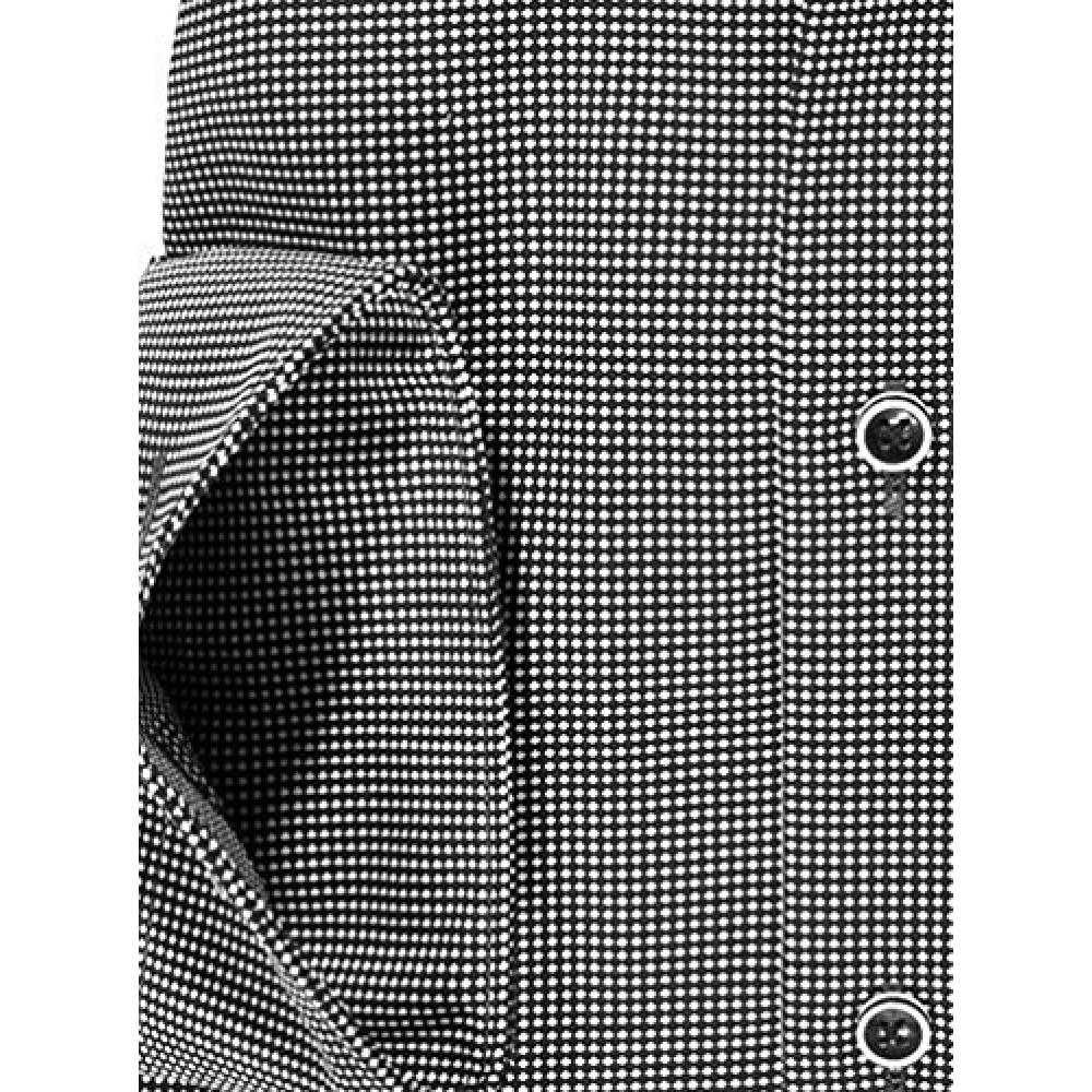 Рубашка Olymp Luxor Modern Fit 2336-64-68 черная в мелкую белую точку