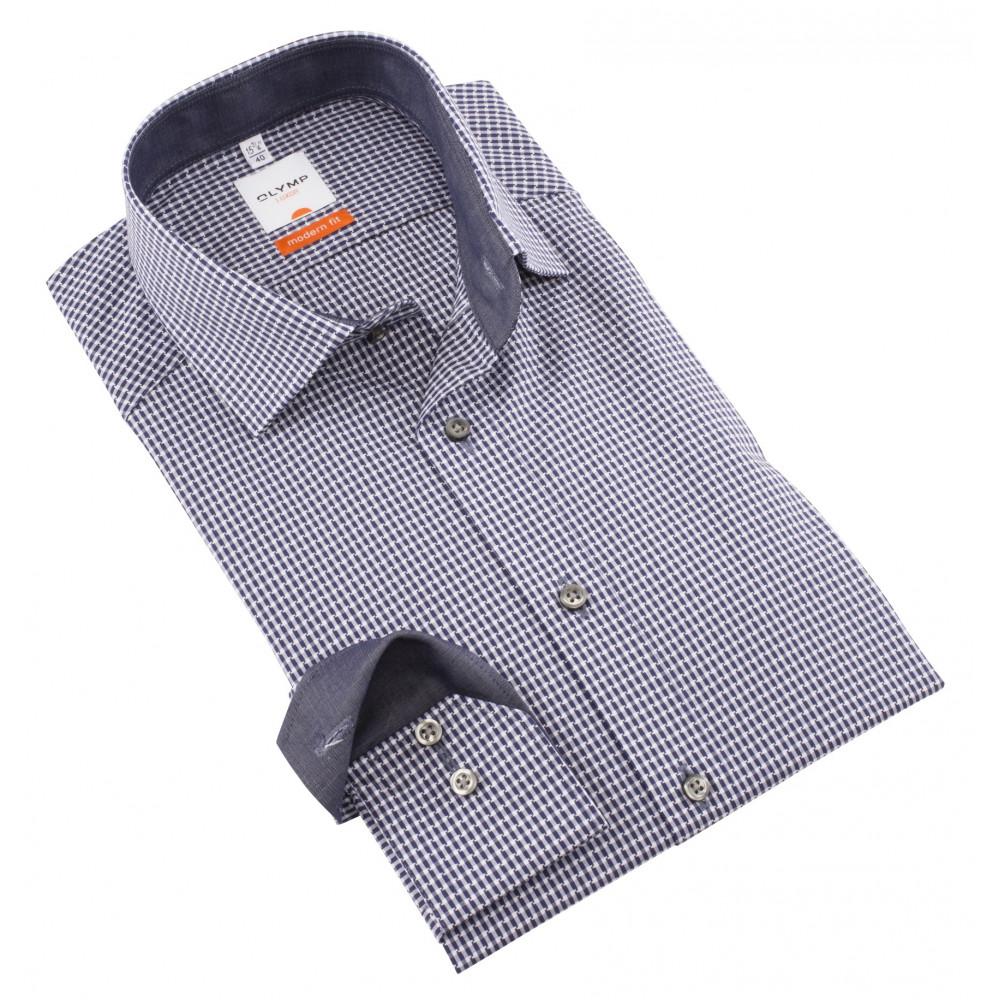 Рубашка мужская Olymp Luxor  Modern Fit 3380-64-18 в синюю клетку