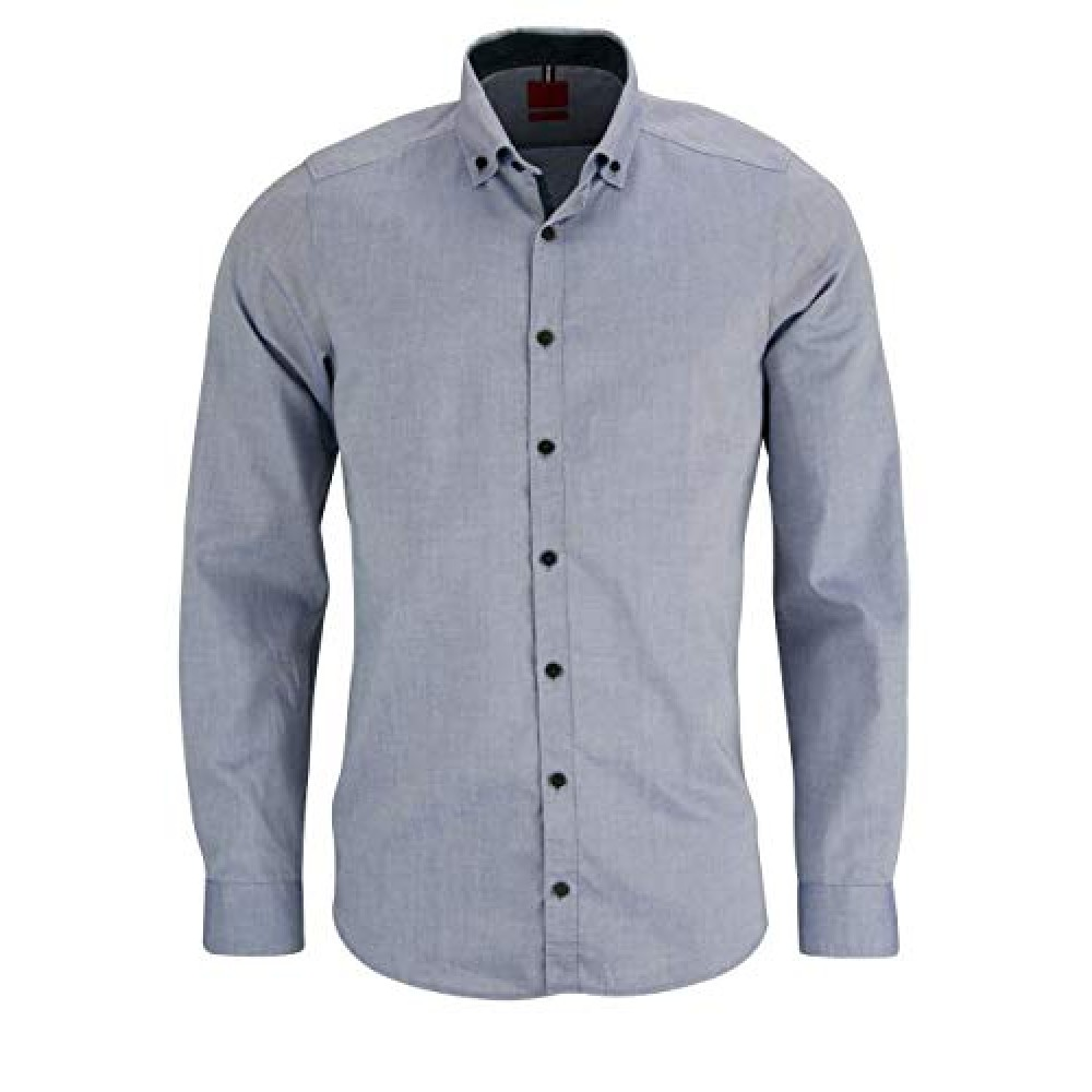 Рубашка мужская Olymp Level Five Body Fit 4233-64-17 серая