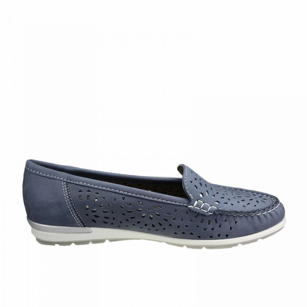 Мокасины женские Ara 12-30865-08 серо голубые