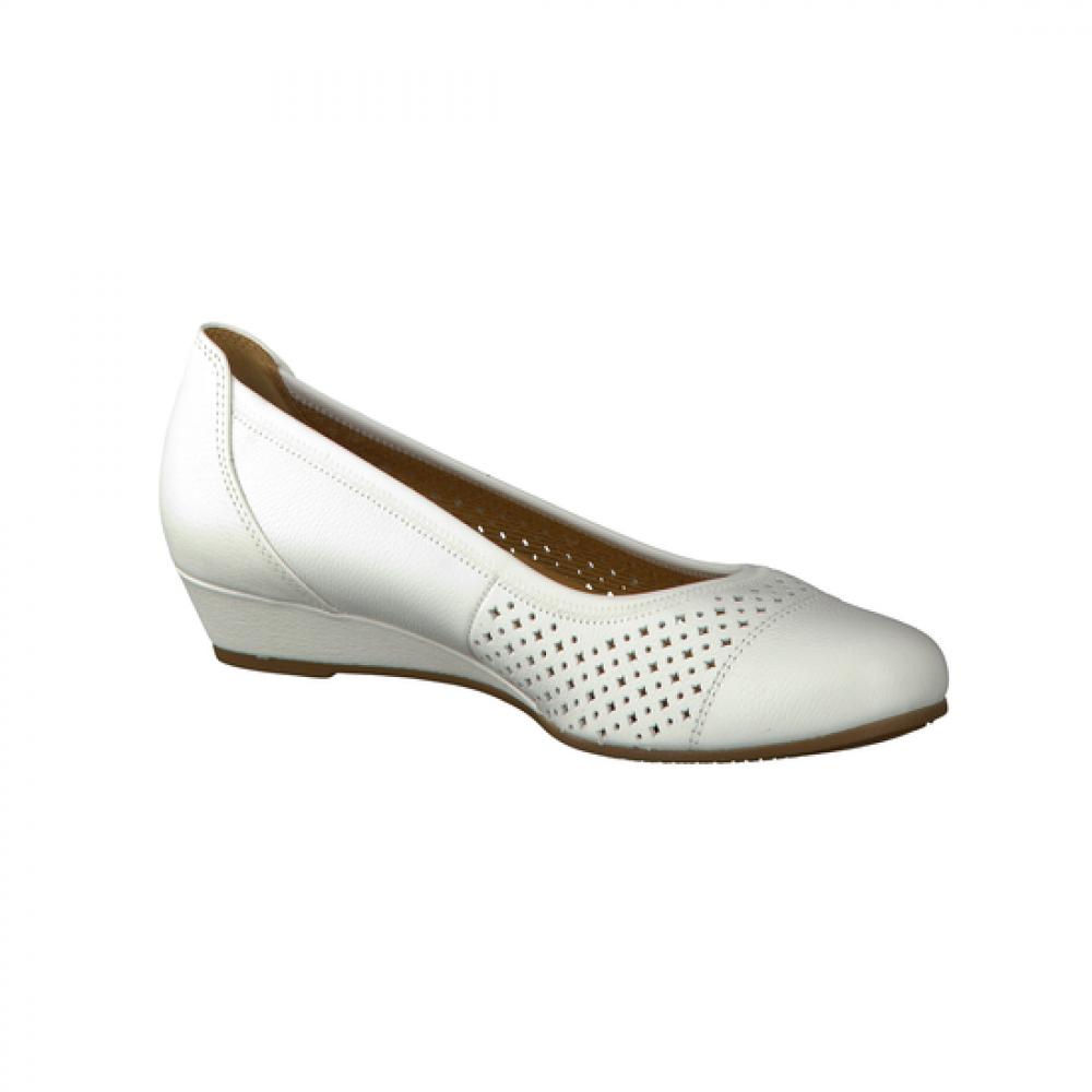 Туфли Gabor 42.695.50 белые с перфорацией