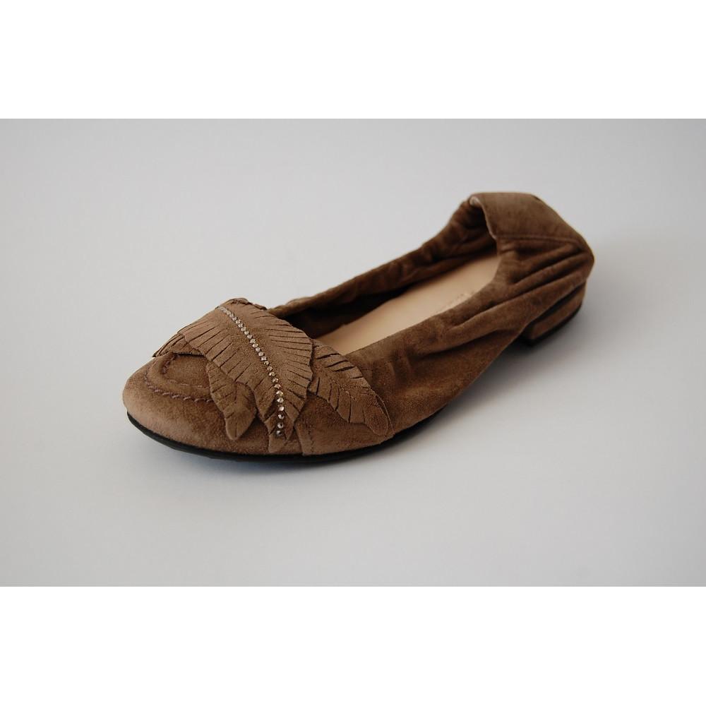 Балетки замшевые Kennel & Schmenger 31-91320-445 коричневые