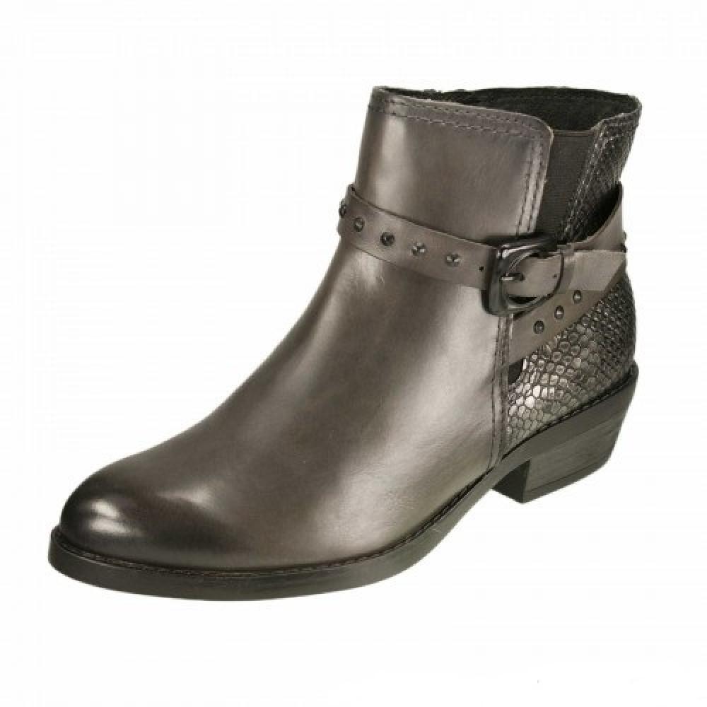 Ботинки казаки Marco Tozzi 2-25038-25 серая платина