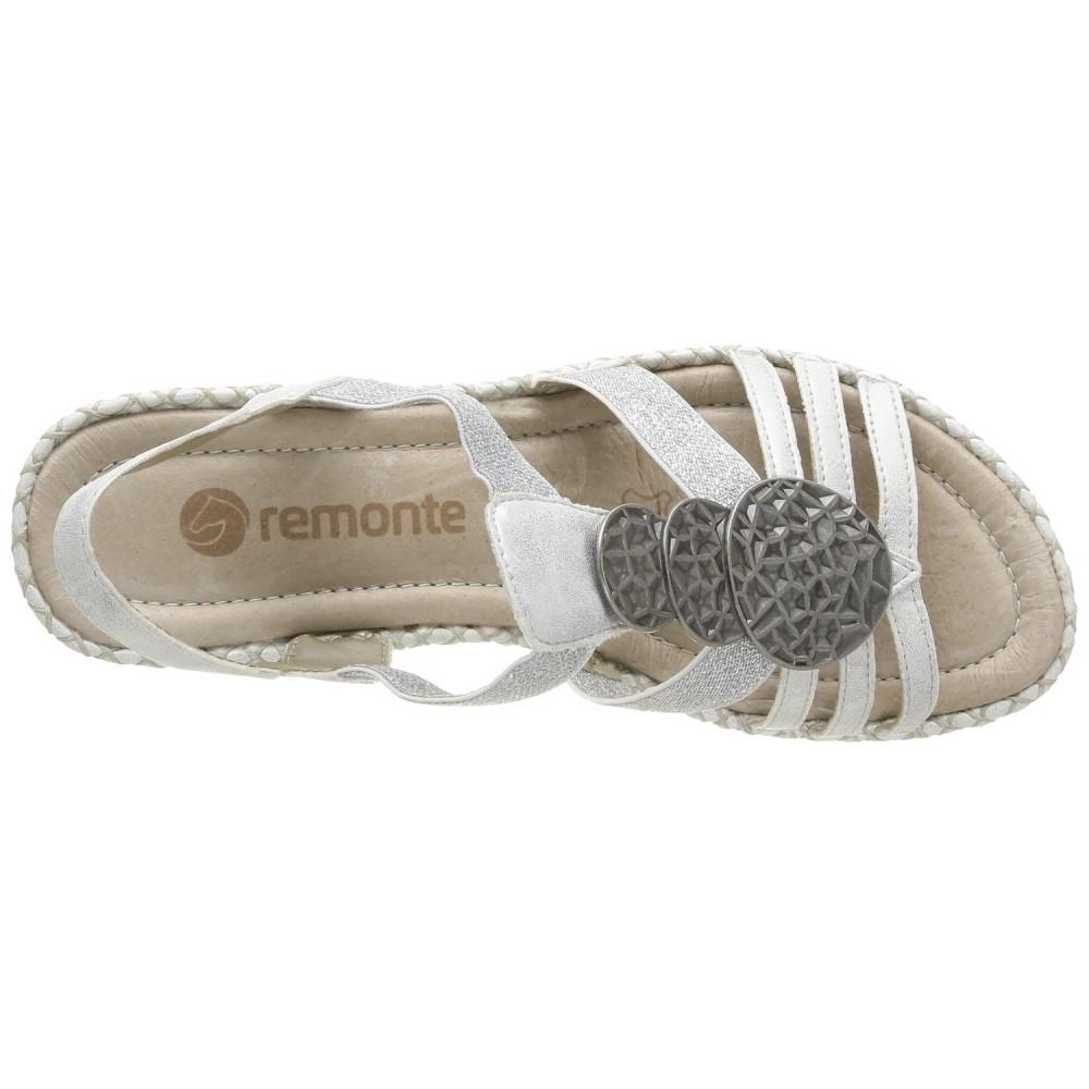 Босоножки Remonte D6747-90 серебристые