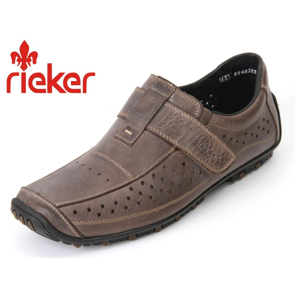 Мокасины Rieker 08977-45 серые