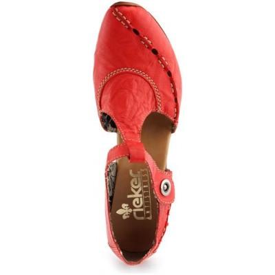 Босоножки Rieker 43756-33 красные