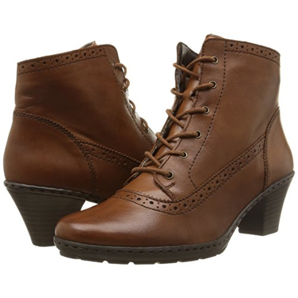 Ботинки дерби женские Rieker 77140-24 коричневые