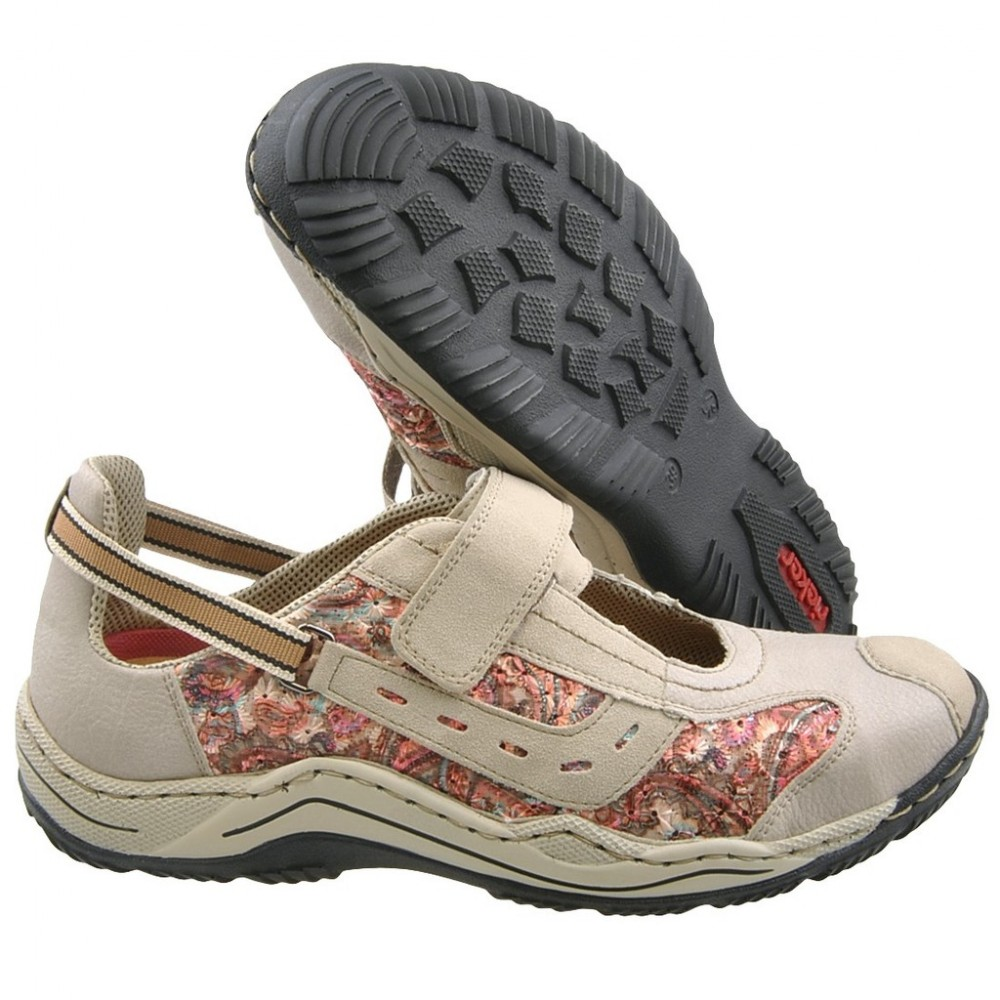 Кроссовки Rieker L0570-60 бежевые