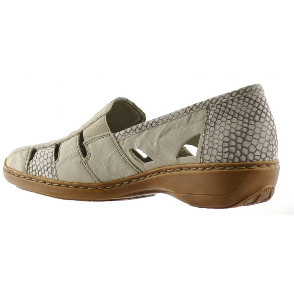 Туфли слипоны женские Rieker 41385-62 бежевые