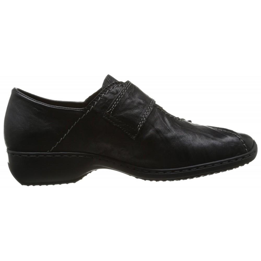 Туфли слипоны Rieker L3862-01 черные