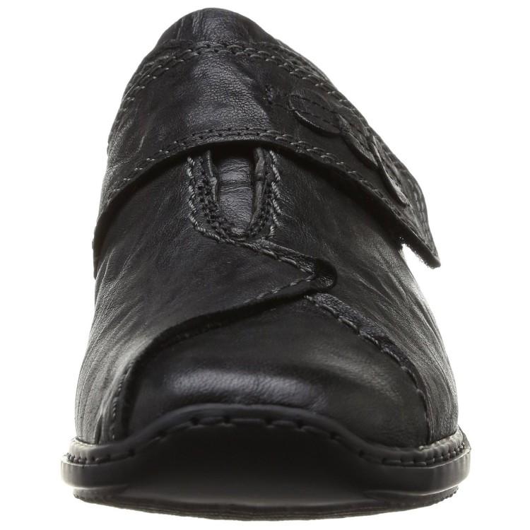 Слипоны Rieker L3862-01 черные