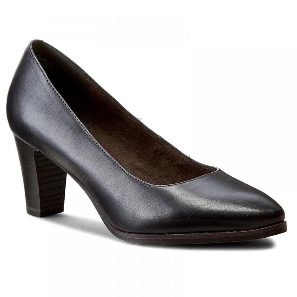 Туфли Tamaris 1-22422-27 черные на каблуке