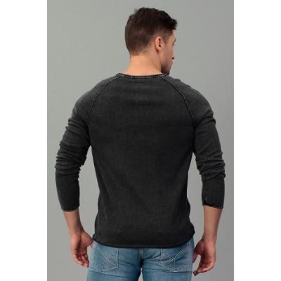 Пуловер Tom Tailor Denim темно серый