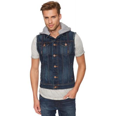 Жилетка джинсовая Tom Tailor темно синяя