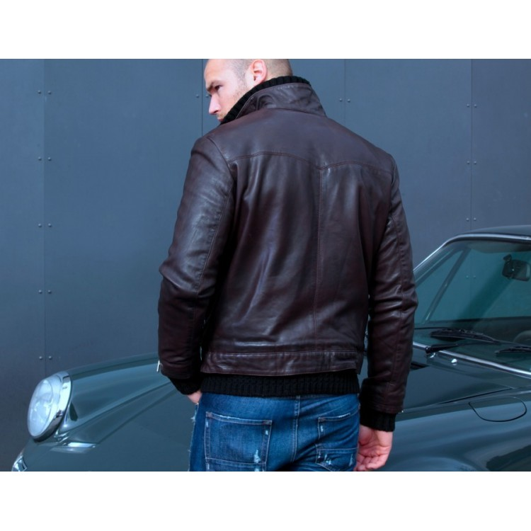 Мужская кожаная куртка Grand Prix Originals коричневая