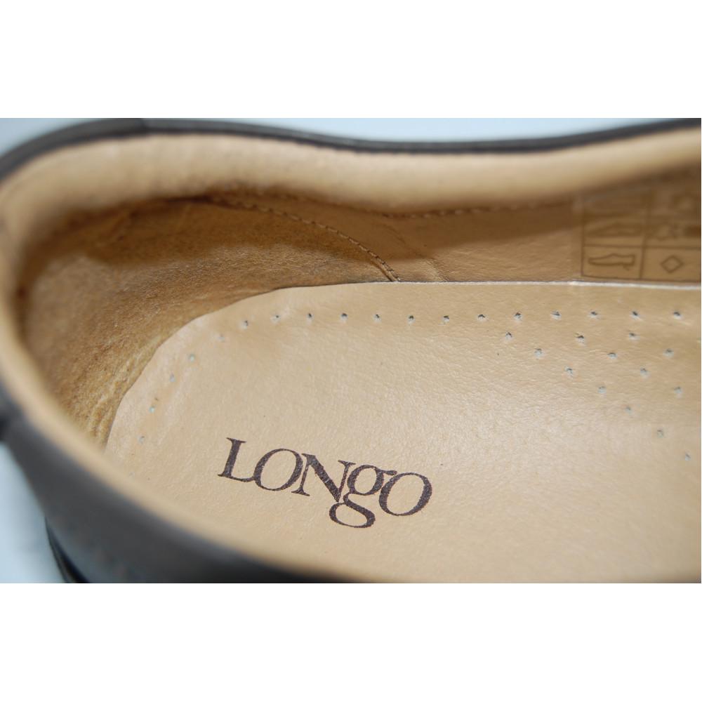 Туфли Longo 19510 коричневые с застежкой липучкой