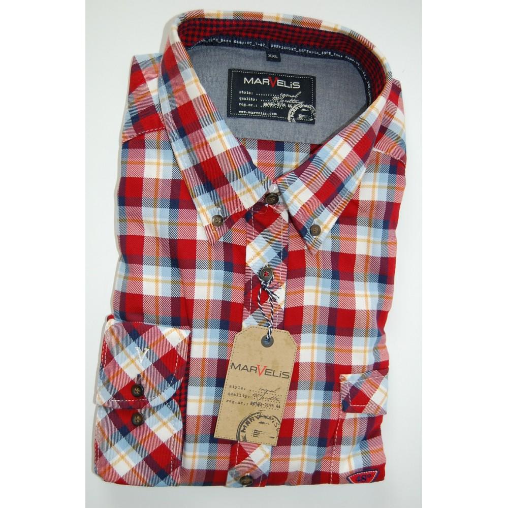 Рубашка Marvelis 2618-64-35 красная в клетку