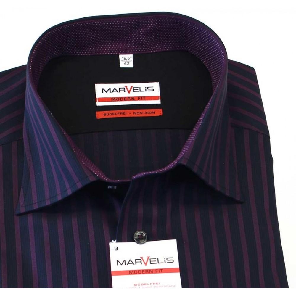 Рубашка Marvelis Modern Fit 2722-64-98 синяя в полоску