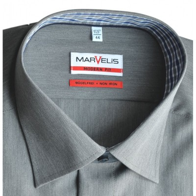 Рубашка Marvelis Modern Fit 2740-64-67 серая