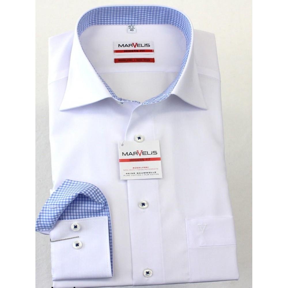Рубашка Marvelis Mofern Fit 2762-64-00 белая