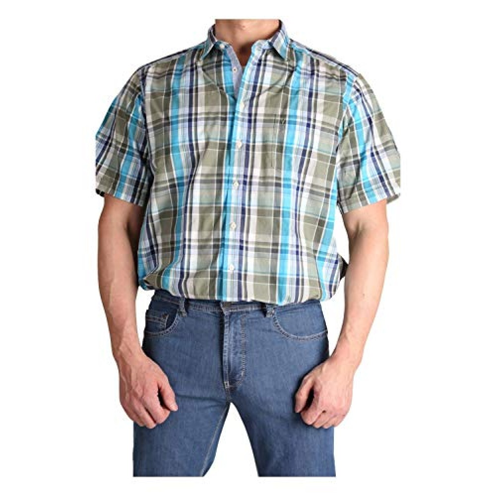 Рубашка мужская Marvelis 3612-12-26 разноцветная в клетку