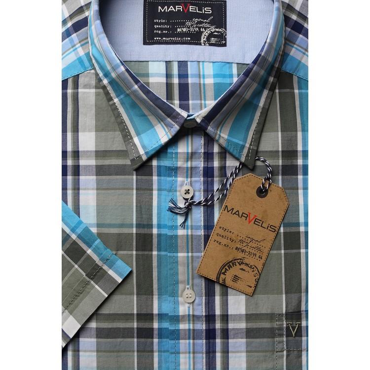 Рубашка мужская Marvelis 3612-12-26 разноцветная
