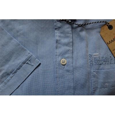Рубашка Marvelis 3639-12-17 голубая