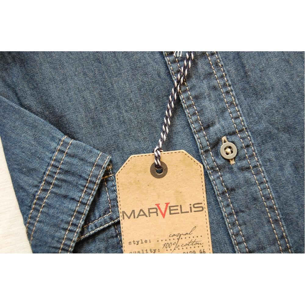 Рубашка джинсовая Marvelis 3645-12-96 синяя
