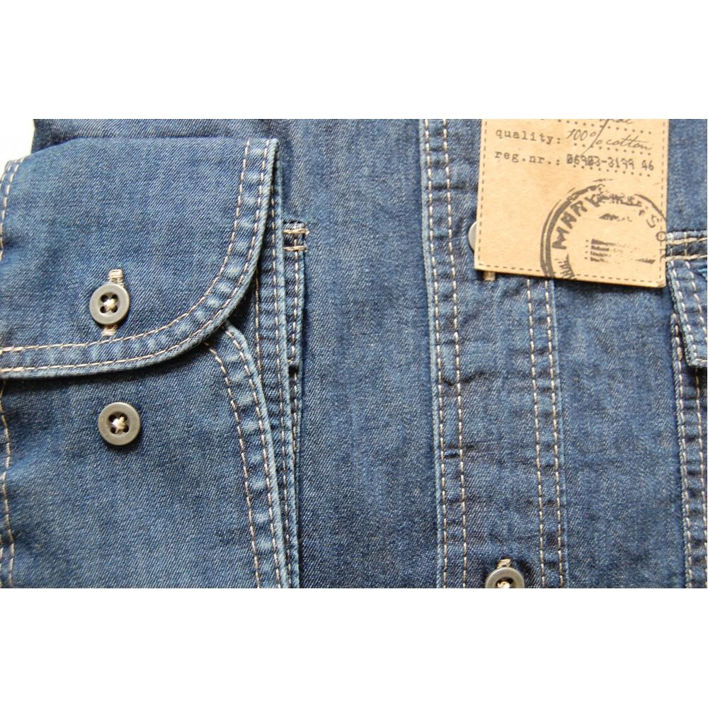 Рубашка джинсовая Marvelis 3645-64-96 синяя