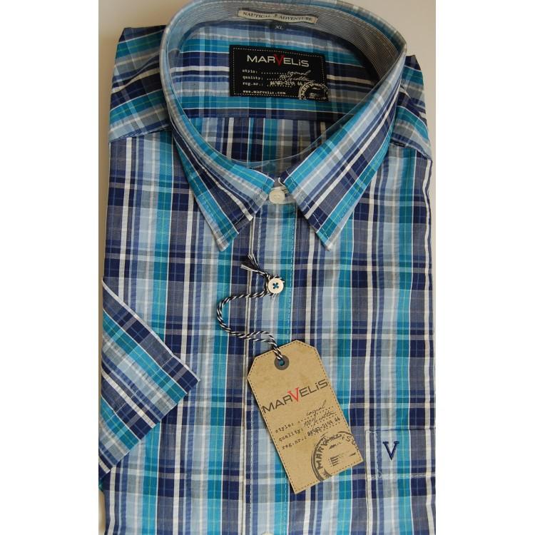 Рубашка Marvelis 3648-12-77 голубая