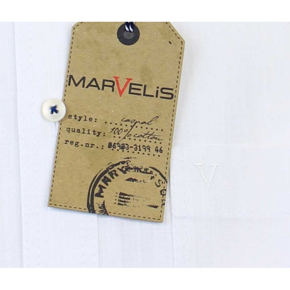 Рубашка мужская Marvelis Casual 3649-12-00 белая