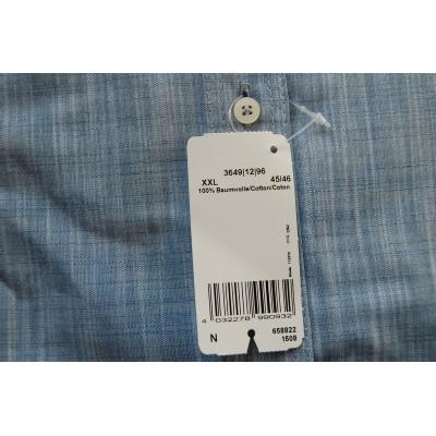 Рубашка Marvelis 3649-12-96 серо голубая