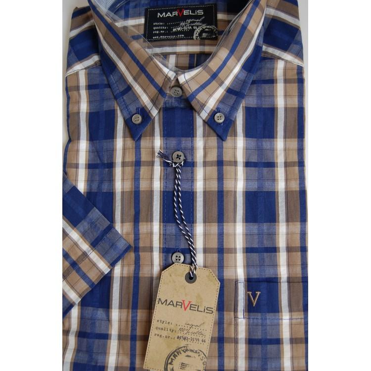 Рубашка Marvelis 3650-12-23 разноцветная