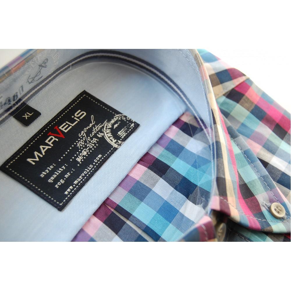 Рубашка Marvelis 3665-64-81 разноцветная в клетку